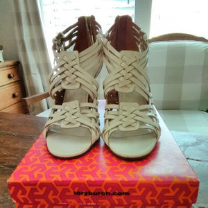 Tory Burch~BLEACH~Tevray~Leather Wedges ~8.5